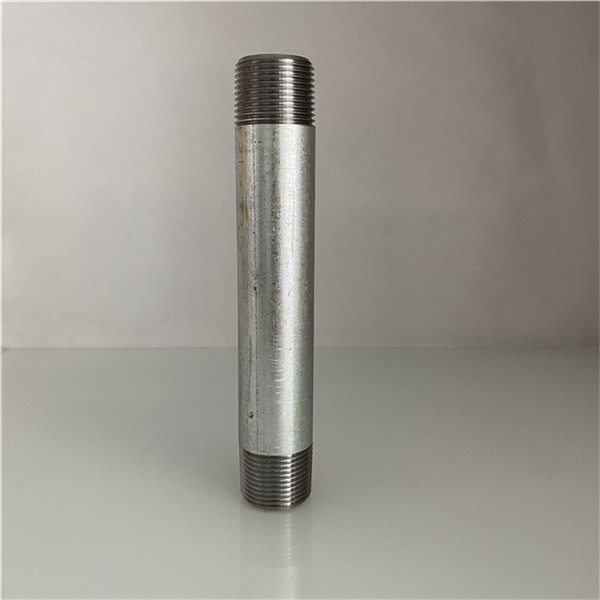 galvanized steel pipe thread nipple