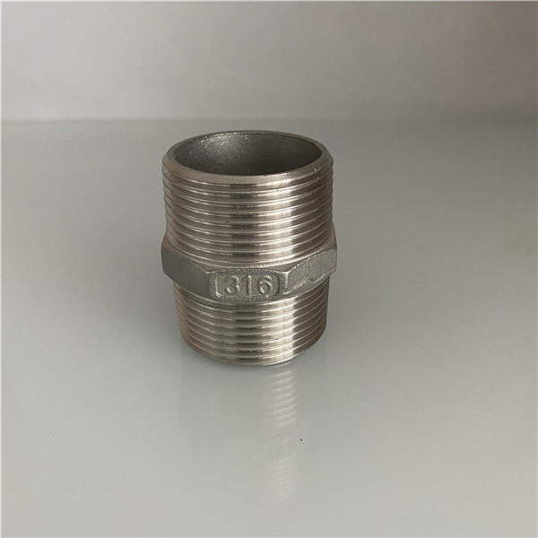 SS Threaded Pipe Fittings Hex Nipple